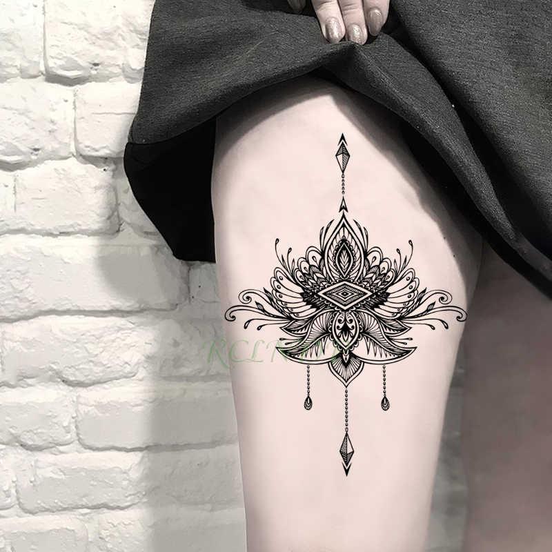 Wodoodporna tymczasowa naklejka tatuaż księżyc słońce fałszywe tatto flash tatoo tatouage temporaire naklejki ramię nogi szyi dla mężczyzn dziewczyna kobiet