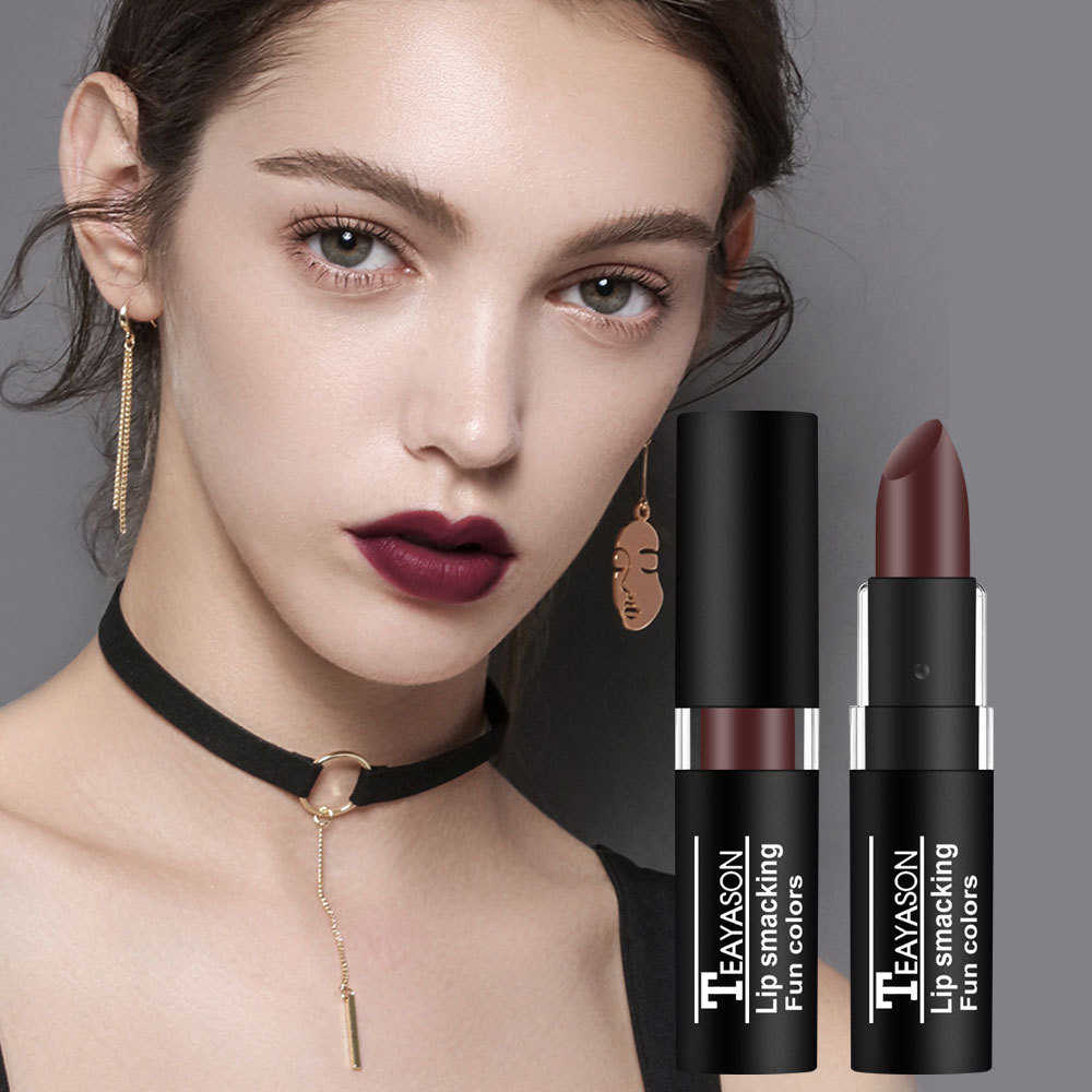 12 צבע עמיד למים סקסי עירום מט שפתון איפור שנמשך משחת לחות אדום קטיפה שפות איפור נשים שפתון מתנה TSLM1
