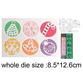 Christmas Ornament Gift Box Banner Metal Cutting Dies for DIY Scrapbooking dies Album Card Decor Embossing Die Cut Stencils dies image