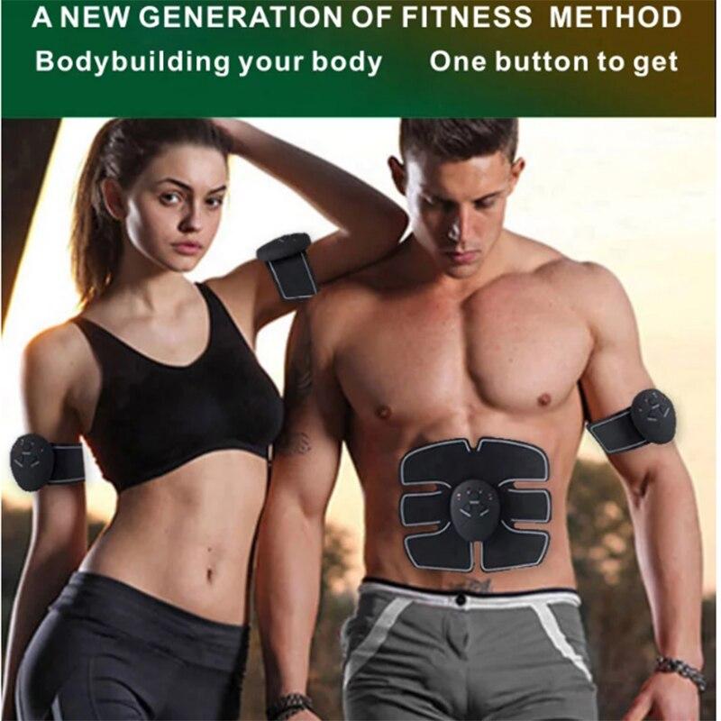 Dropshipping Body Slimming Massager Vibro 6 Pack Ems Muscle Stimulator Smart Fitness Abdominal Trainer Weight Loss Massage Stick
