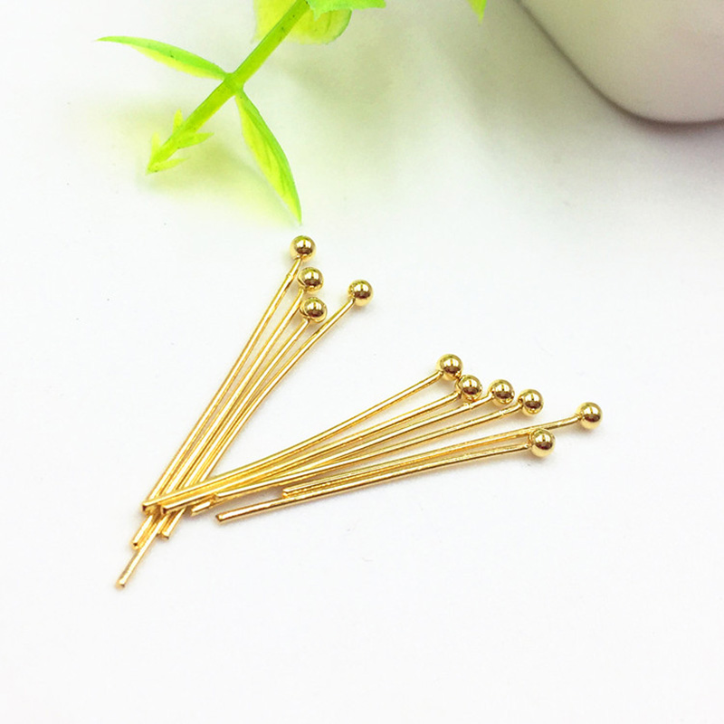 50pcs Stainless Steel Gold Eye Pins Needles Jewelry Making Findings 40mm