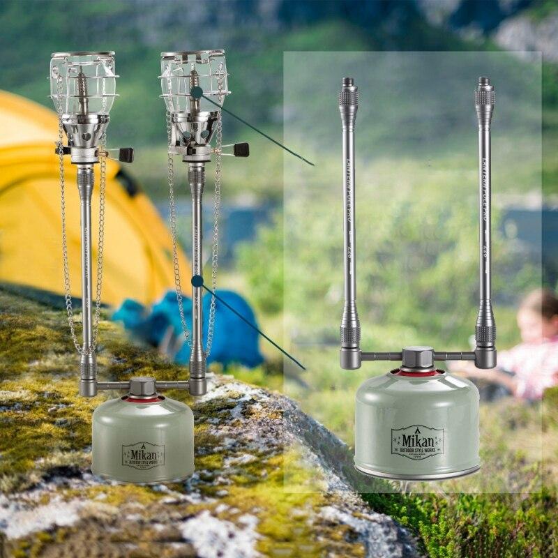 Gas Lantern Extension Tube Aluminum Alloy Durable Lightweight Portable Multifunctional Gas Tank Converter Extension Rod