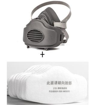 Półmaska bawełniany filtr gniazdo ochronna maska do pielęgnacji twarzy i ust ochrona przed kurzem farba w sprayu maska przeciwpyłowa Respirator cząsteczkowy tanie i dobre opinie CN (pochodzenie) AF200829-2 WORK Respirator mask