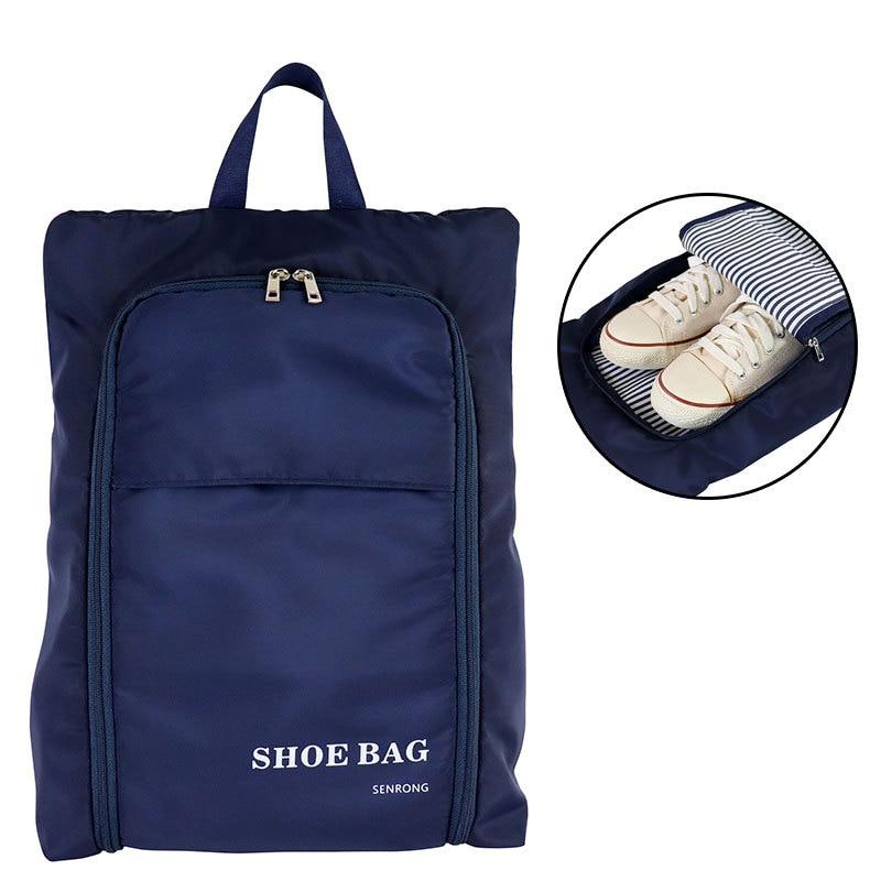 Sac à chaussures pliant personnalisé voyage étanche à la poussière Portable amérique main Oxford tissu 2019 sac de rangement en tissu de qualité supérieure