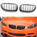 Углеродное волокно глянцевый черный цвет передняя ноздри Замена для BMW 3 серии E92 E93 подтяжка лица 328I 328I XDrive 335I 335I XDri