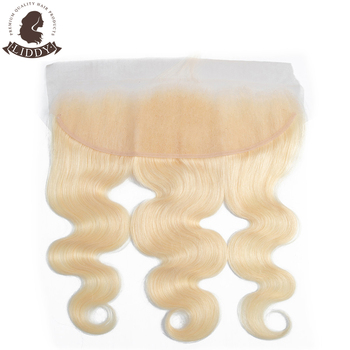 Liddy Lace Frontal Closure 613 Blonde Frontal Brazilian Body Wave 100% Human Hair 8-20 Inch Free Part 13x4 Swiss Lace Non-remy