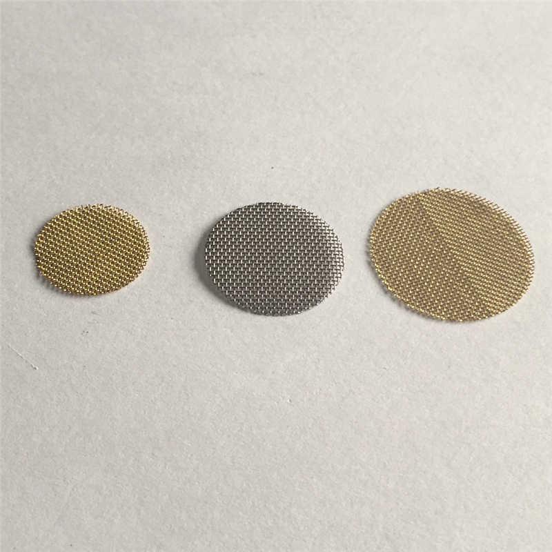 20 unidades/pacote 20/19/15mm multifuncional tubo de água de narguilé de aço inoxidável fumo do tabaco filtros de metal tela gaze