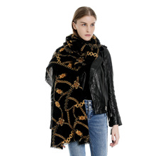 2019 New Winter Scarves Women Printed Flower Cashmere Plaid Blanket Scarf and Shawls Keep warm
