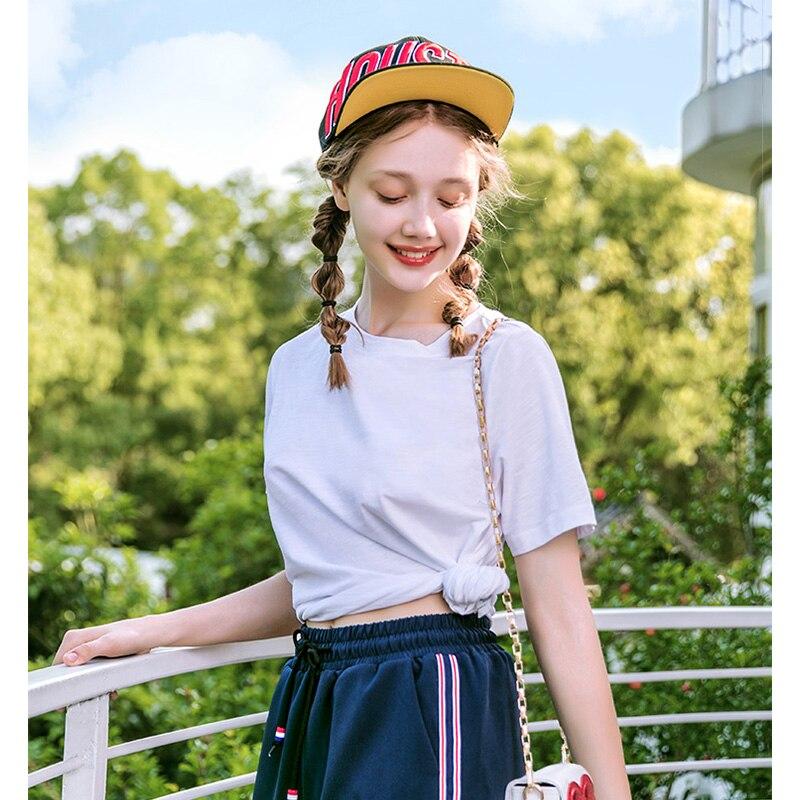 SEMIR T Shirt Women New 100% Cotton t-shirts woman 2019 vogue Vintage tshirts cotton women O Neck Short Sleeve Tops(China)