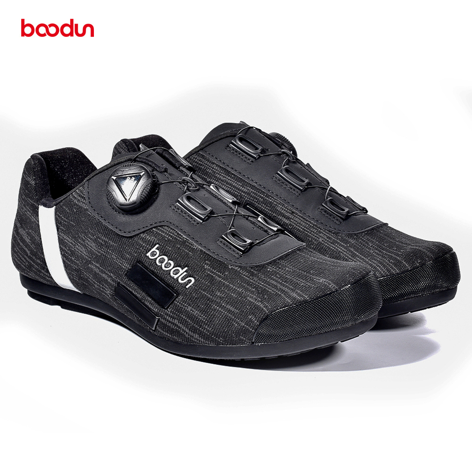 Details about  /BOODUN 1 Pair Breathable Road Bike Anti-Skid Lock System Cycling Shoes Man Adult