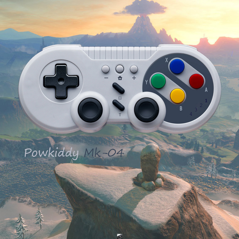Powkiddy Mk04 для N-Switch Bluetooth геймпады Джойстик контроллер без корня с кнопкой D-pad Pro Windows