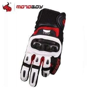 Image 1 - MOTOBOY Motorcycle Gloves Carbon Fibre Motocross Gloves Sheepskin Moto Gloves Touch Function Motorbike Gloves Guantes Luvas