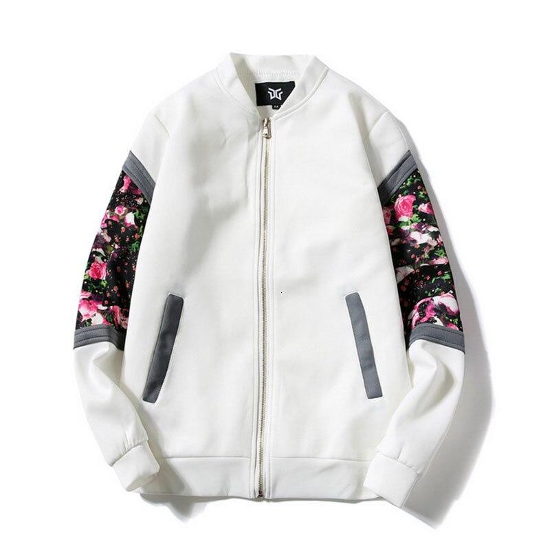 Female bomber   jacket   cause and effect spring 2019 flower windproof   basic     jacket   ladies zipper   jacket   light shirt