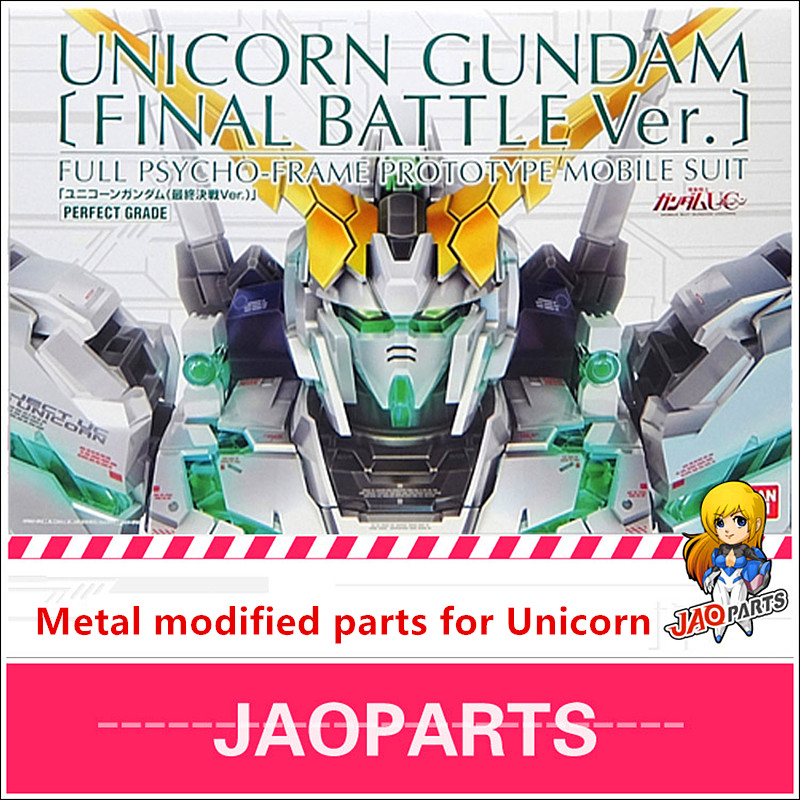 JAOparts Metal Modified Parts Set For Bandai PG 1/60 RX-0 Unicorn Gundam Final Battle Ver DJ043