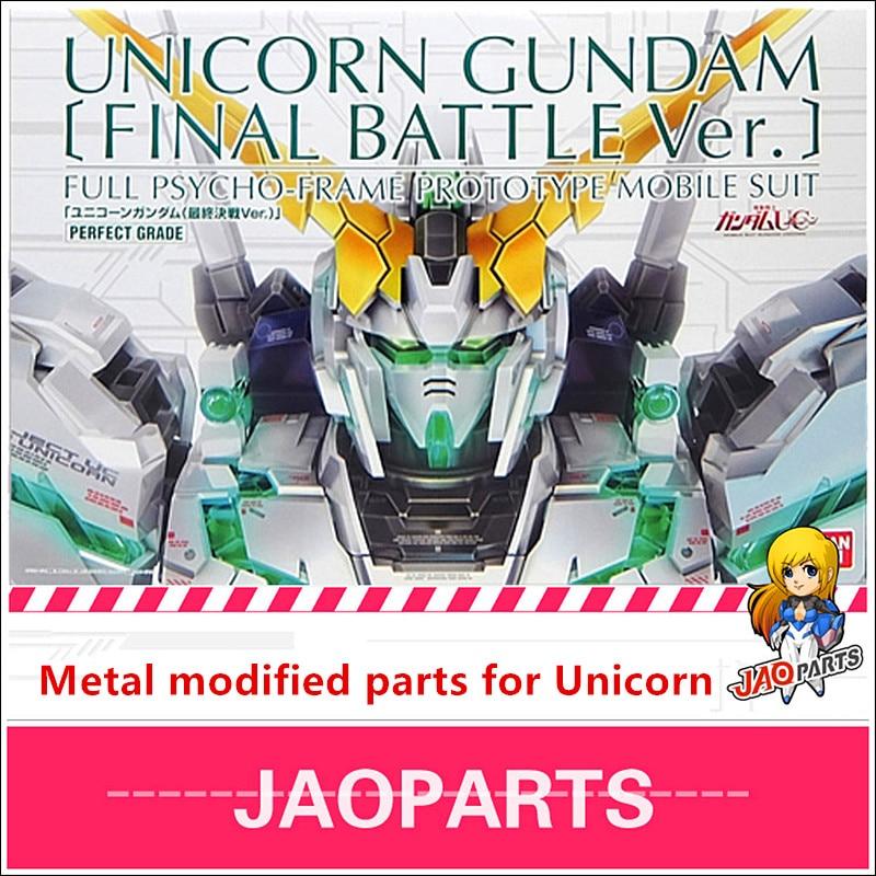 JAOparts Metal Modified Parts Set For Bandai PG 1/60 RX-0 Unicorn Gundam Final Battle Ver DJ043