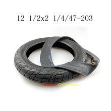 12 Polegada pneus 12 1/2x2 1/4 47-203 pneus e tubo interno de pneu de bicicleta elétrica, portador de bebê, carregador de bebê, bicicleta elétrica dobrável