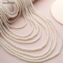 Salircon Boho Ethnic Multi Layer Imitation Pearl Chunky Choker Necklaces Exaggerated Cuban Chain Pearl Necklace Women Jewelry