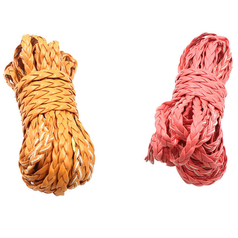 5 metros Colorido Pulseira De Couro PU 5 milímetros Cordão De Couro liso Corda Corda Achados DIY Colar Pulseira Fazer