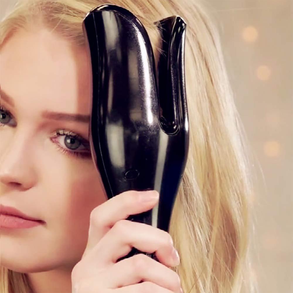Щипцы для завивки волос, автоматическая плойка с турмалиновым керамическим нагревателем и светодиодной подсветкой, цифровой портативный мини-утюжок для завивки волос 6