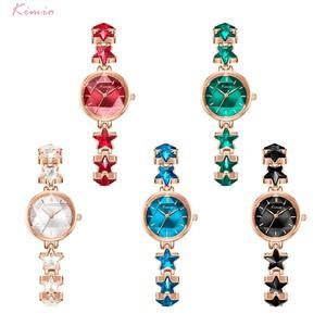 Image 5 - Kimio นาฬิกาข้อมือสุภาพสตรี Blue Star สร้อยข้อมือนาฬิกาผู้หญิงสายเล็กๆนาฬิกายี่ห้อผู้หญิงกันน้ำนาฬิกาข้อมือ 2019 ใหม่