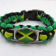 Горячая Распродажа Браслет Ямайка ручной работы оплетка браслеты модные Ямайка обувь для мужчин и женщин браслет love Ямайка подарок