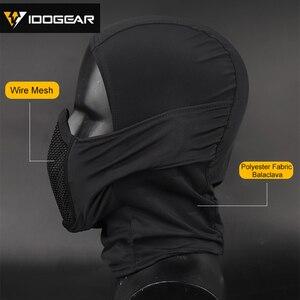 Image 4 - IDOGEAR Tactische Bivakmuts Masker MESH Airsoft Mask Full Face Airsoft Masker Camo Beschermende kleding 3612
