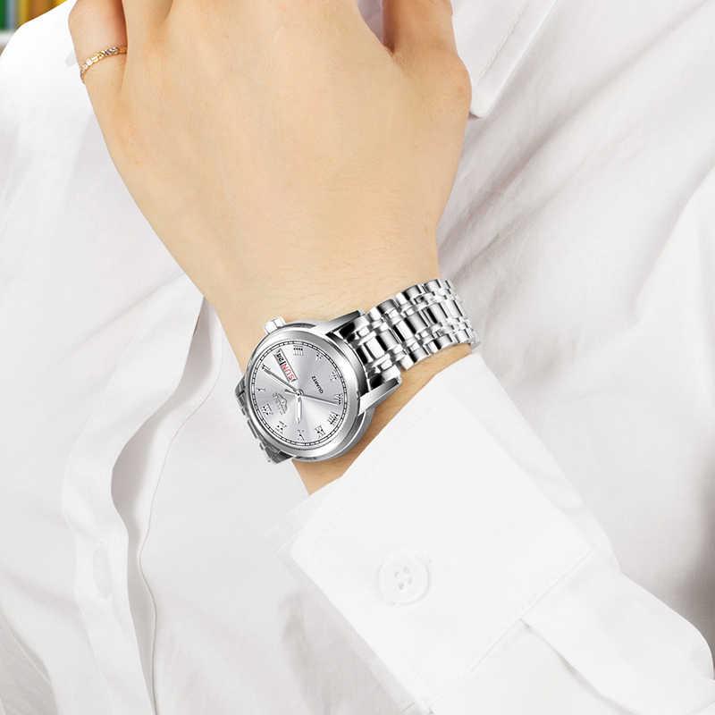 ผู้หญิงนาฬิกาสแตนเลสนาฬิกาLIGEนาฬิกาแฟชั่นผู้หญิงกีฬากันน้ำนาฬิกาข้อมือสุภาพสตรีRelogio Feminino