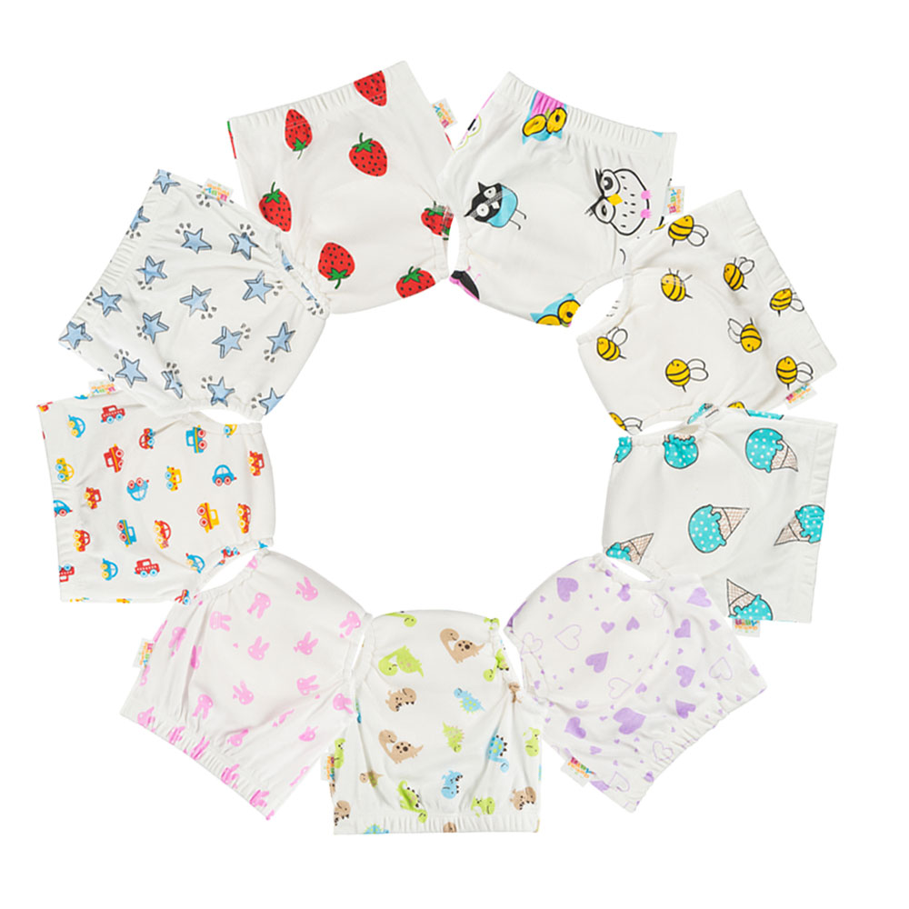 8PCS  4 Layers Baby Potty Training Pants Reusable Toilet Trainer Panty Underwear Bebe Cloth Diaper Briefs Wholesale