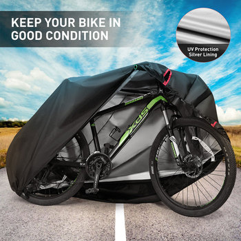 DSYCAR 1Set 210D Oxford Bike Cover, UV Dust Sun Wind Proof Outdoor Waterproof Bicycle Cover for Mountain Road Bikes New