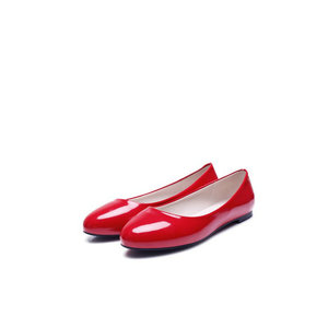 Image 5 - ZawsThia 2020 Classis Ladies Ballet Flats Shoes Women Loafers Slip On Ballerina Flat Patent PU Leather Round Toe Big Size 48 52