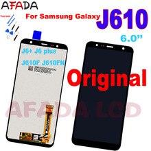 Original 6.0'' For Samsung J6+ 2018 J610 SM-J610F J610FN J6 Plus LCD Display Touch Screen Assembly for Samsung J4+ J415 Lcd origina for samsung galaxy j4 2018 j4 plus j415 j415f j410 j6 prime j6 plus 2018 j610 lcd display touch screen j4 2018 j400 lcd
