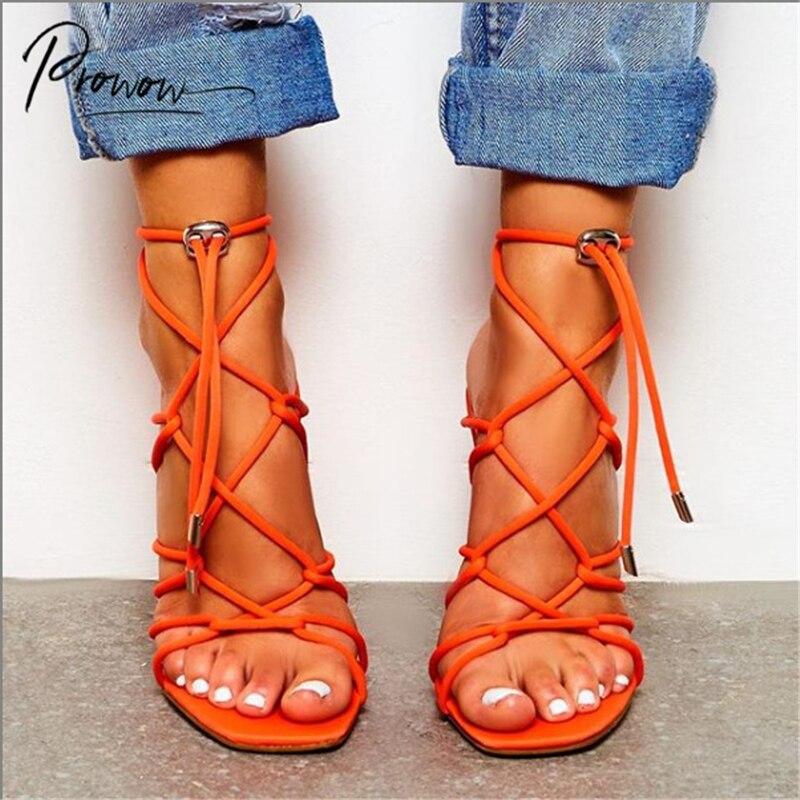 orange lace up heels cheap online