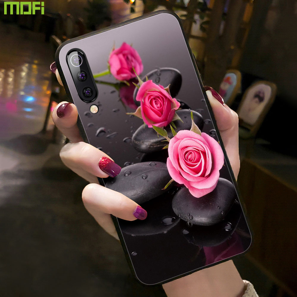 For Redmi Note 7 pro <font><b>Case</b></font> For Xiaomi Redmi Note 7 Cover Mofi For Xiaomi Mi9 <font><b>Mi8</b></font> Lite <font><b>SE</b></font> <font><b>Case</b></font> A3 CC9 Flower Flora Girl Pink image