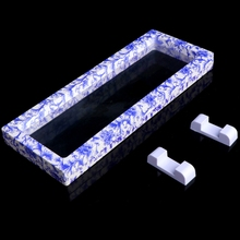 Porcelain Jewelry Suspended Coins Floating Display Case Stand Holder Box Y4QB