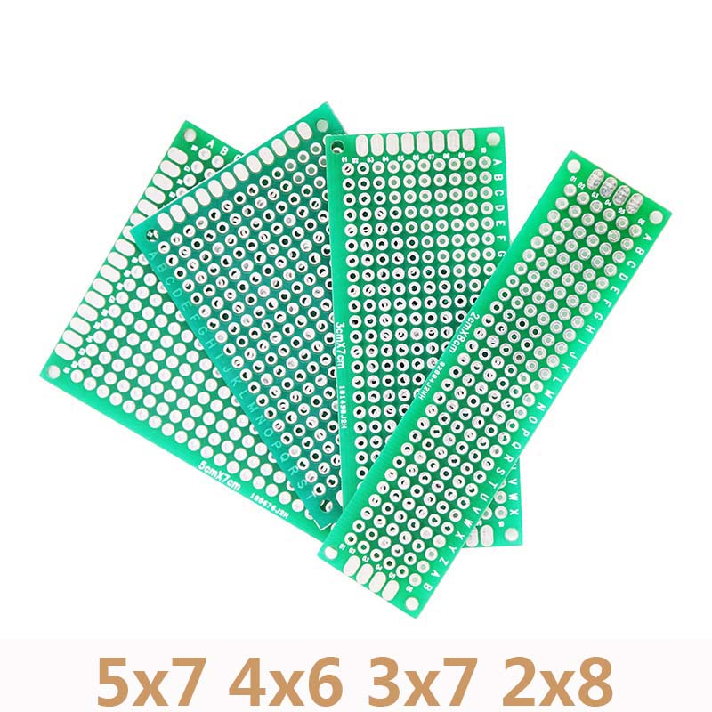 4pcs/Lot 5x7 4x6 3x7 2x8cm DIY Protoboard Double Side Copper Prototype PCB Universal Board For Arduino Circuit Experiment Board