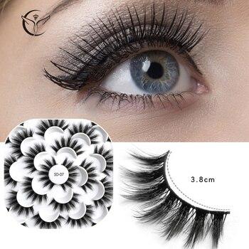 Mink eyelashes 3d mink hair eyelashes10 pairs long makeup 3d faux nature fake lashes extension false eyelashes Wholesale (10P) 2