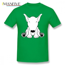 English Bull Terrier Cute Men T Shirt Summer Hot Sale 4XL 5XL 6XL Cotton Crewneck Custom Short Sleeve Mens Shirts Fashion 2019