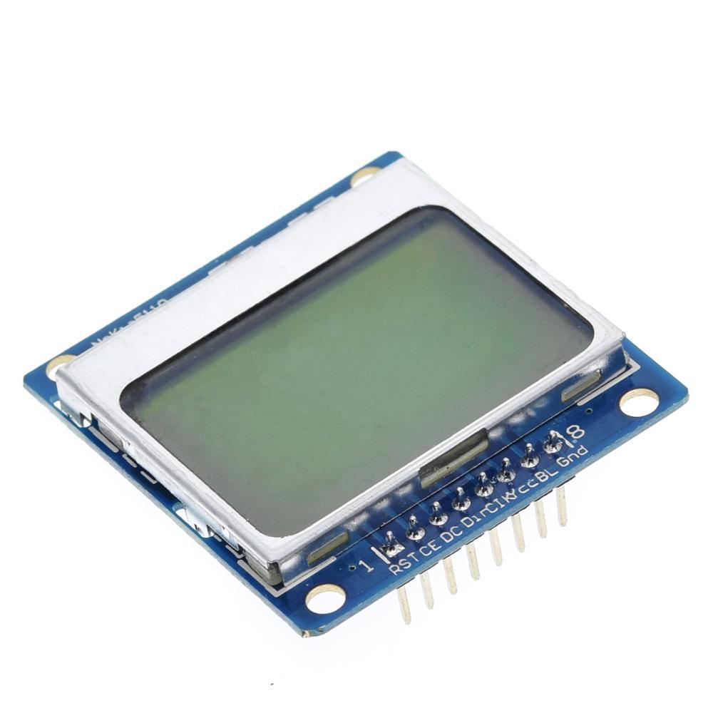 Image 4 - 1pcs ShengYang di Alta Qualità 84x48 84*48 Modulo LCD Bianco  retroilluminazione adattatore PCB per Nokia 5110 per Arduino Hot In  Tutto Il Mondo-in Moduli LCD da Materiali e componenti elettronici su