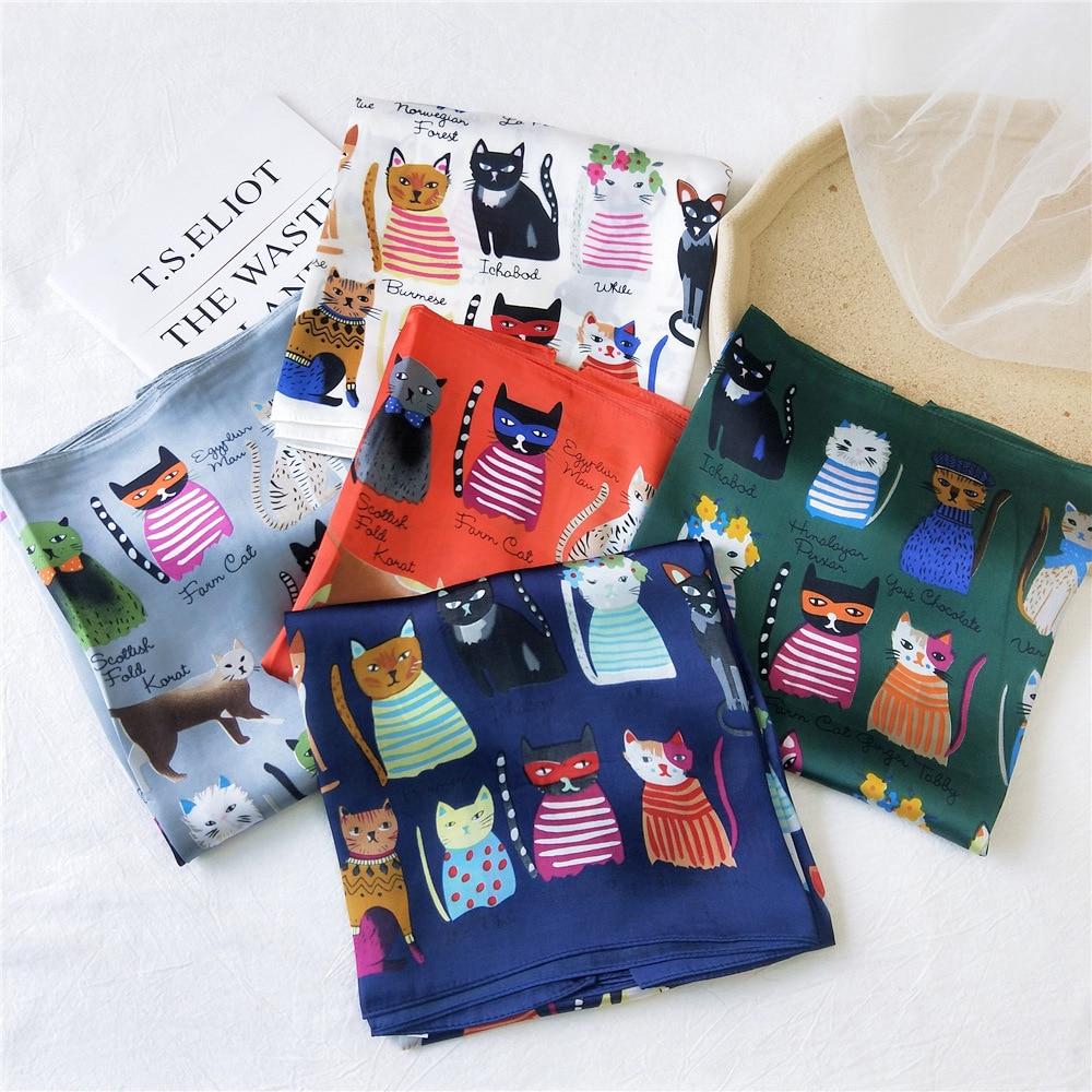 90*90cm Square Shawls And Wraps Silk Handkerchief Women Neck Scarf Fashion Print Hijab Scarfs Female Elegant Scarves For Ladies