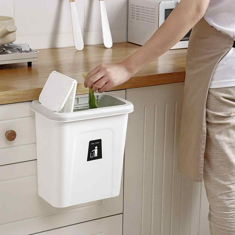 Push-top Trash Can Chef Hanging Automatic Return Lid Fruit Vegetable Pericarp Cabinet Cupboard Kitchen Garbage Storage Bucket