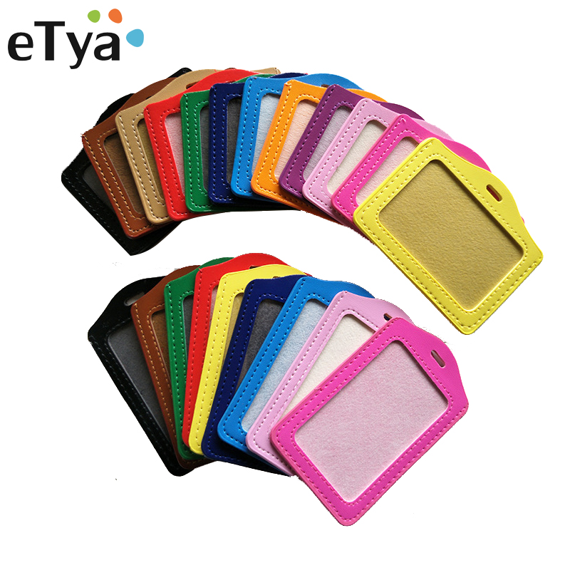 1PC Bank Credit Card Holder Student Bus ID Holders Identity Badge Protective Cover Men Women Office Business Card Holder Wallet