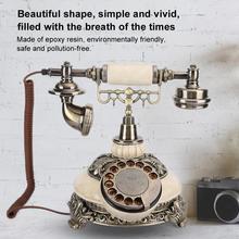 Vintage Telephone Home European Dial Landline-Rotating Antique Desktop-Caller Fashion