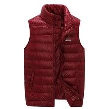 YICIYA 90% Winter Duck Down Men Sleeveless Jacket Ultralight White Vest Reversible Windproof Warm Waistcoat