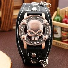 Часы наручные мужские с черепом креативные модные браслетом