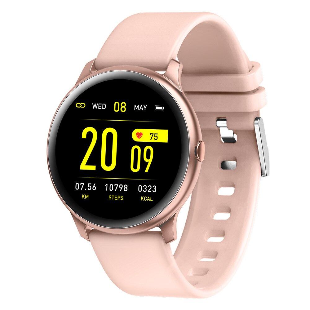 696 KW19 Mulheres Pulseira de relógio Inteligente lembrete Mensagem rastreador De Fitness monitor de freqüência cardíaca Homens Esporte Smartwatch Para Android e IOS