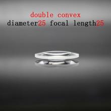 Diameter 25mm Focal Length 25mm Optical Double Convex Lens Factory Custom Optical Glass Prism and Lens линза сменная dragon optical d1 xt lens желтый