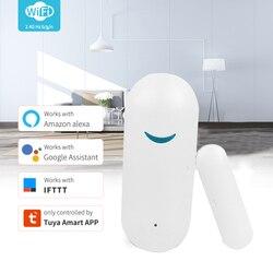 Приложение Tuya Smart WiFi датчик для двери открытый закрытый детекторы Wi-Fi сигнализации дома Совместимость с Alexa Google Home охранной сигнализации сен...