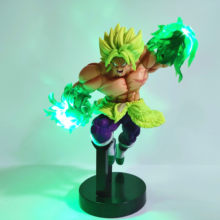 Dragon Ball Z Broly LED Efek Aksi Figur Mainan Anime Dragon Ball Super Broly LED Power Adegan Figurine Mainan Dbz(China)