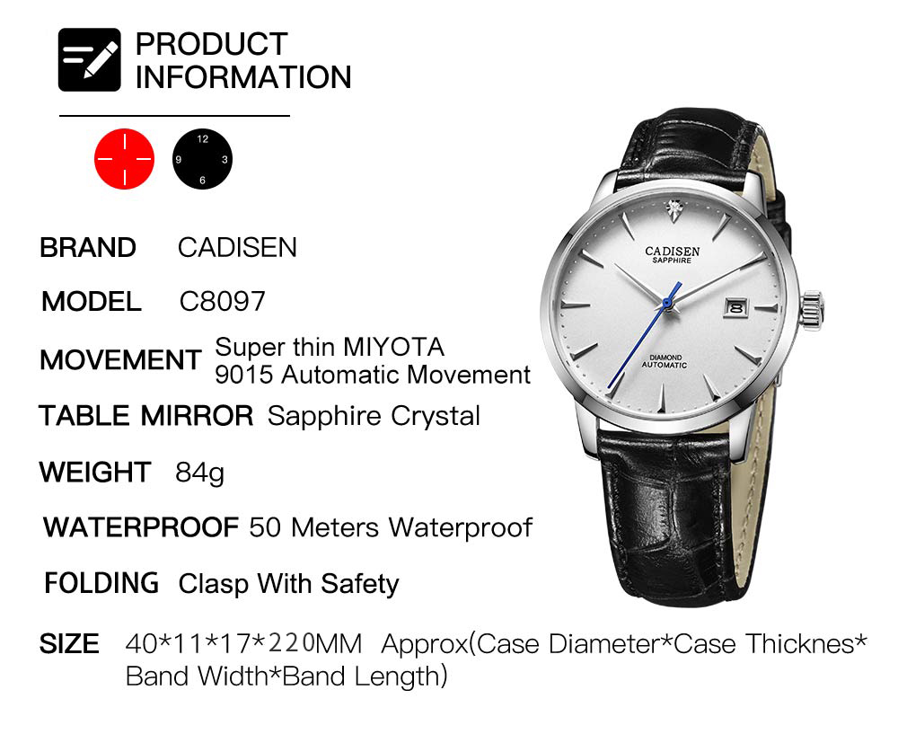Hadd0ecc3541c4b558a241d8f63aba960y CADISEN Men Watches Automatic Mechanical Wrist Watch MIYOTA 9015 Top Brand Luxury Real Diamond Watch Curved Sapphire Glass Clock