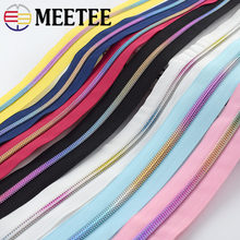 Meetee 4/8meters 5# Nylon Zipper Coded Open-End Zips for DIY Textile Coat Luggage Repair Kit Zippers Garment Sewing Accessories